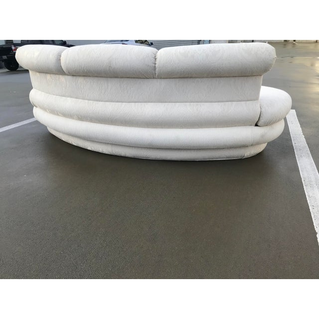 """White 1980s Vintage Adrian Pearsall for """"Comfort Designs"""" Curved Kidney Shaped Sofa For Sale - Image 8 of 9"""