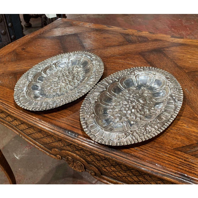 Decorate a wall or a shelf with this pair of highly detailed, antique wall plaques. Crafted in France circa 1880, each...