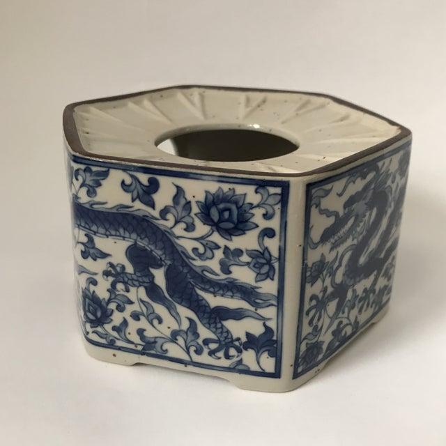 Blue & White Porcelain Vessel For Sale - Image 5 of 11