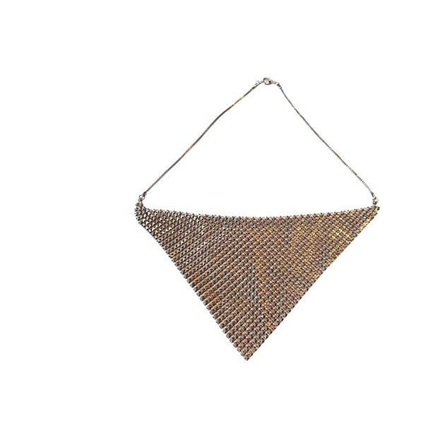 Modern Chainmail Bib Necklace For Sale - Image 3 of 4