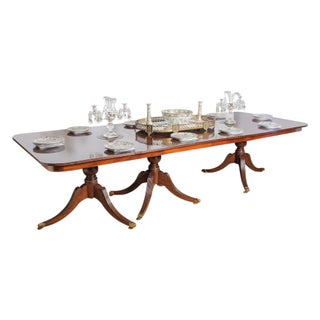 3 pedestal dining table