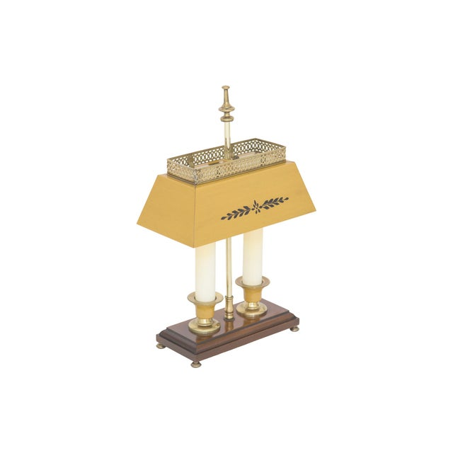 Yellow Bouillotte Lamp For Sale - Image 5 of 7