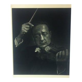 "Black & White Print on Paper, ""Jascha Heifetz"" by Yousuf Karsh, 1967 For Sale"