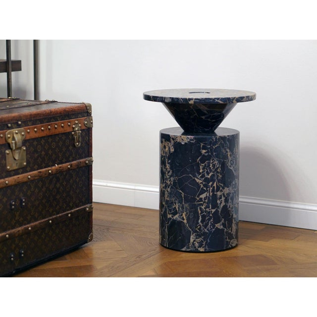 Black Portoro Marble Coffee Table by Karen Chekerdjian For Sale - Image 6 of 13