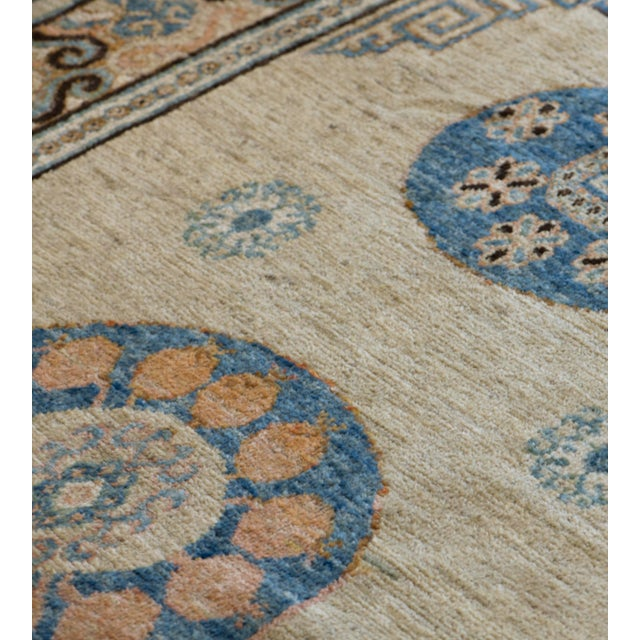 Persian Mid-19th Century Handwoven Wool Khotan Rug For Sale - Image 3 of 5