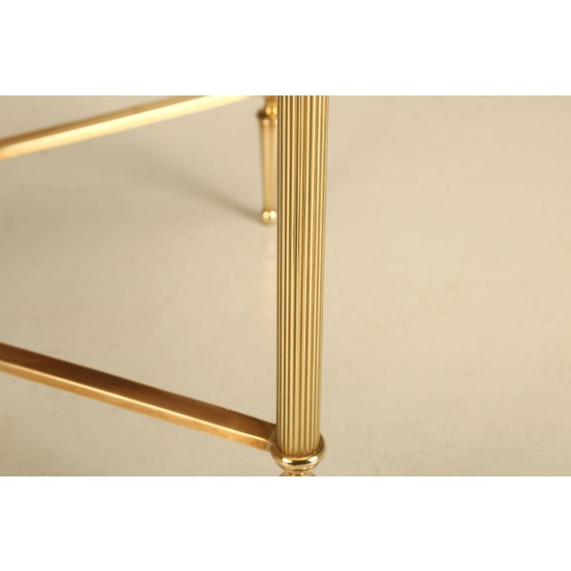 1960s French Mid-Century Modern Coffee or Cocktail Table in Polished Solid Brass For Sale - Image 5 of 9