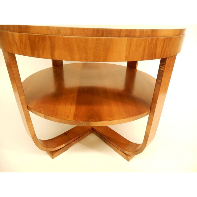 1930's Round Art Deco Table For Sale - Image 4 of 7