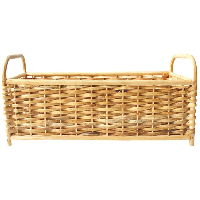 Vintage Rattan Basket or Planter - Image 1 of 5