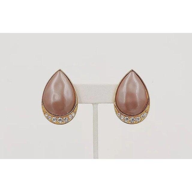 Yves Saint Laurent 1980s Yves Saint Laurent Mocha Lucite Earrings For Sale - Image 4 of 7