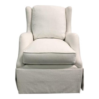 Highland House Rachel Skirted Swivel Chair For Sale