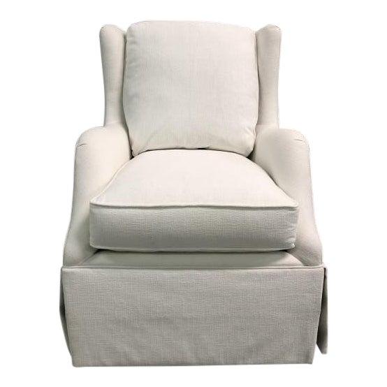 Highland House Rachel Skirted Swivel Chair For Sale