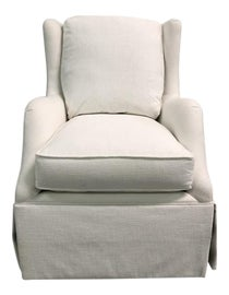 Image of White Club Chairs