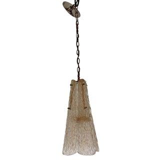 Mid-Century Modern Mazzega Murano Glass Flower Pendant Chandelier Light Fixture For Sale