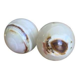 Onyx Finials - a Pair For Sale