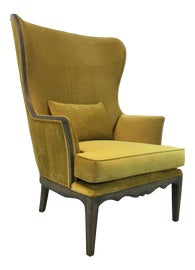 Image of Yellow Wingback Chairs