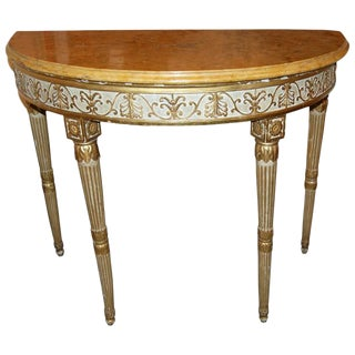 18th Century Roman Yellow Marble Console