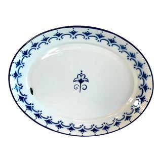 Late 20th Century Vintage Flo Blue Enamel Platter For Sale