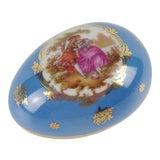 Image of Vintage Limoges France Egg Shaped Trinket Box For Sale
