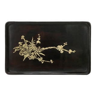 Black Rectangle Lacquer Tray For Sale