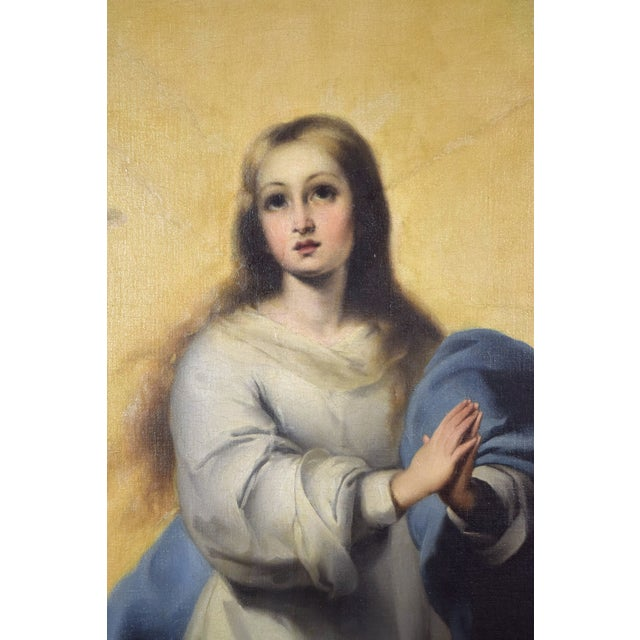 """Neoclassical """"The Immaculate Conception"""" Oil Painting After Giovanni Battista Tiepolo For Sale - Image 3 of 13"""