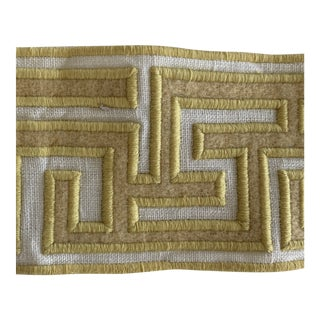 "Samuel & Sons Yellow Embroidered 2 3/4"" Trim- 1 3/4 Yard For Sale"
