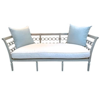 Lillian August Chain Link Settee for Hickory Chair Furniture For Sale