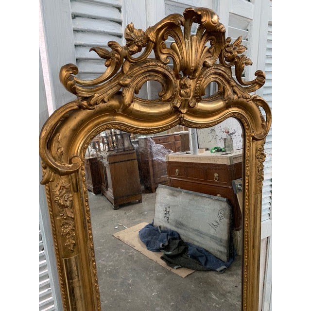 Glass 18th Century Ornate French Louis Philippe Style Mirror For Sale - Image 7 of 13