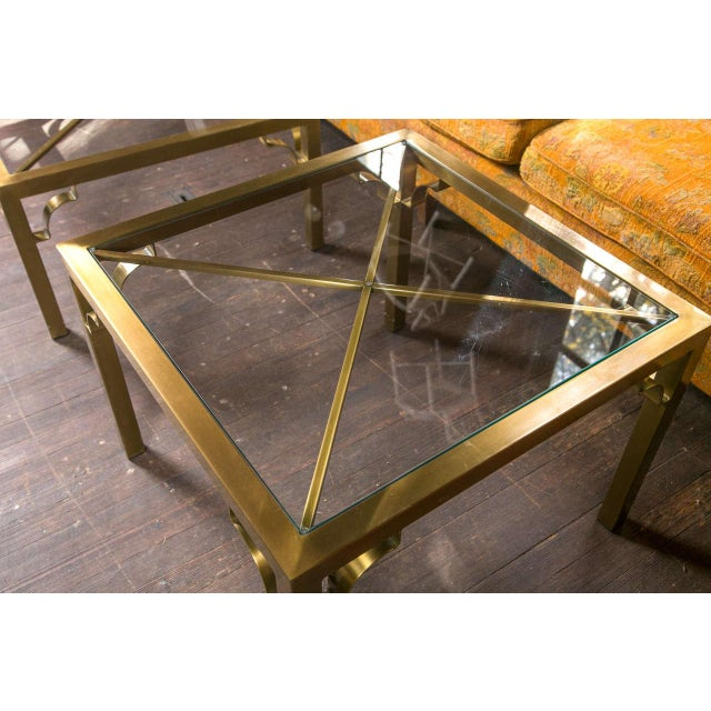 1960s Vintage Mastercraft Brass End Table For Sale - Image 11 of 19