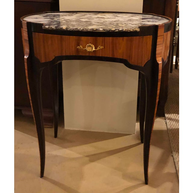 18th Century Louis XV Table With Marble Top Oval Shape For Sale - Image 11 of 11