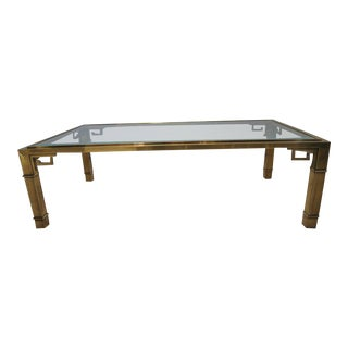 Greek Key Coffee Table by Mastercraft For Sale