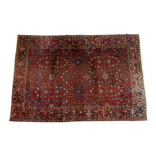 Vintage Iranian Hand Knotted Wool Area Rug For Sale