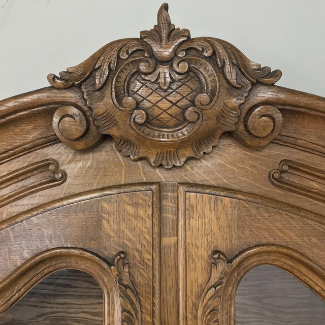 Antique Country French Secretary ~ Bookcase For Sale - Image 10 of 13