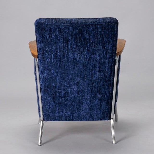 Metal Pair of Bauhaus Steel and Wood Club Chairs For Sale - Image 7 of 10