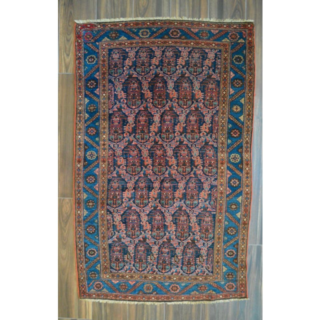 """Paisley Antique Persian Malayer Rug - 3'10"""" X 6'4"""" - Image 2 of 8"""
