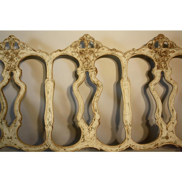 Mediterranean 19th C Portuguese Carved Wood Bench For Sale - Image 3 of 11