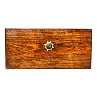 Regency Rosewood Teacaddy For Sale