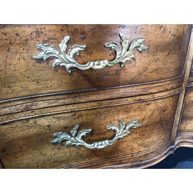 1960s French Provincial 9-Drawer Marble Top Dresser For Sale - Image 10 of 13