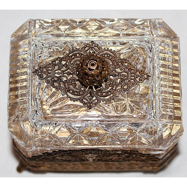 Hollywood Regency Glass Vanity Box - Image 5 of 7