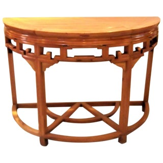 Asian Style Demi Lune Console Table