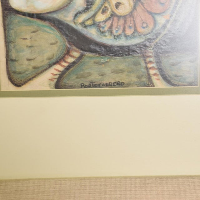Modern Abstract Drawing Signed Rene Portocarrero For Sale - Image 9 of 10