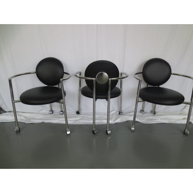 Stanley J Friedman for Brueton Moon Chairs - S/3 - Image 3 of 6