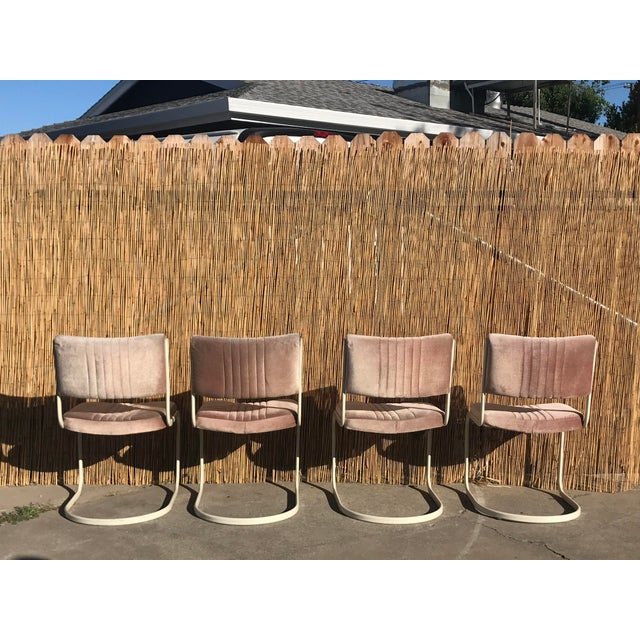 1960s 1960s Vintage Marcel Breuer by Knoll Pink Dining Chairs- 4 Pieces For Sale - Image 5 of 8