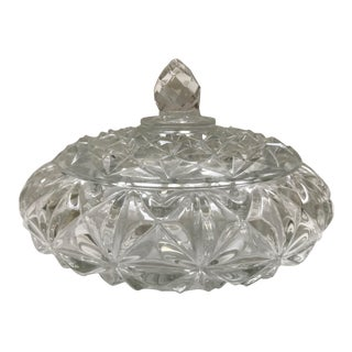 1950s Traditional Covered Crystal Bowl For Sale