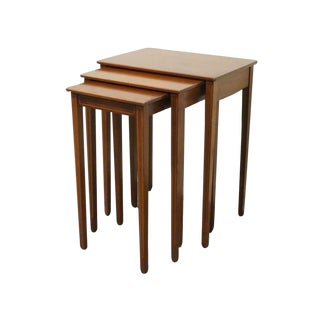 Biggs Furniture Banded Mahogany Nesting Tables - Set of 3 For Sale
