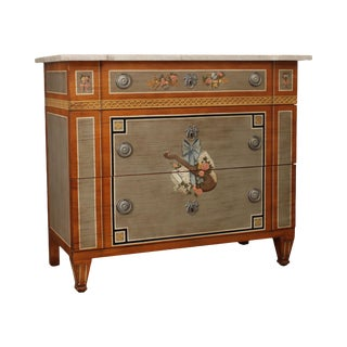 "Drexel Heritage ""Inheritance"" Collection French Directoire Style Painted Chest of Drawers For Sale"