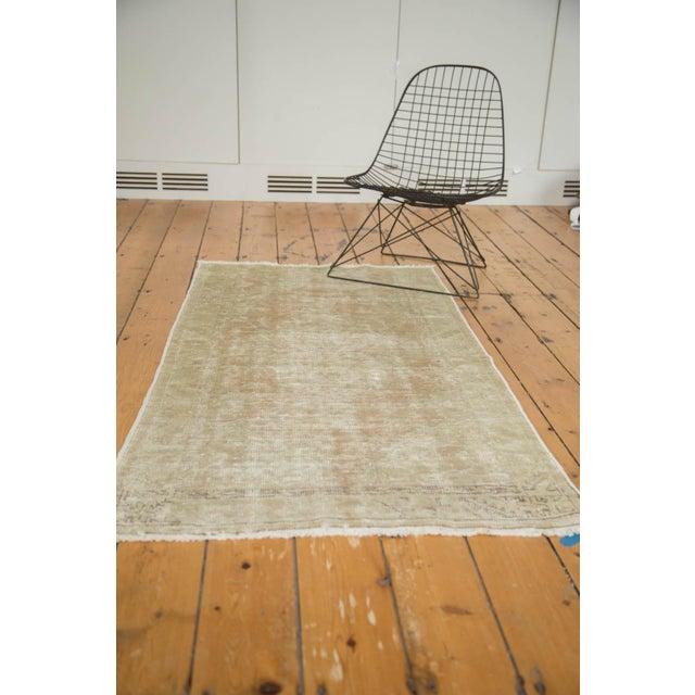 "Vintage Distressed Oushak Rug - 2'9"" x 5'3"" - Image 10 of 10"