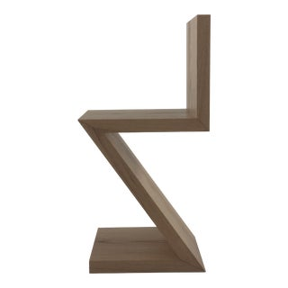 Z Chair in Solid Red Oak For Sale
