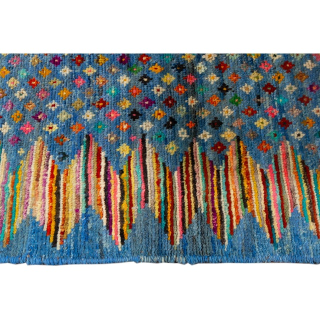 "Modern Gabbeh Rug, 2'7"" X 9'10"" For Sale - Image 4 of 10"