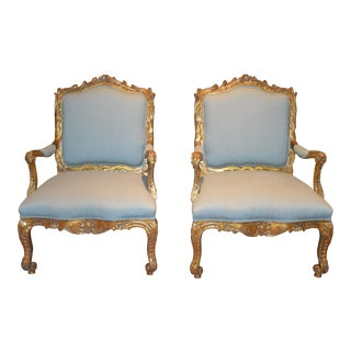 Early 19th Century Antique French Armchairs - a Pair For Sale