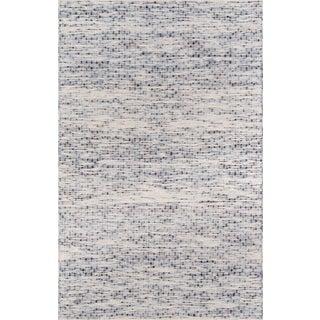 Erin Gates Dartmouth Bartlett Blue Hand Made Wool Area Rug 8' X 10' For Sale